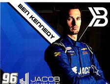 "2017 BEN KENNEDY ""JACOB COMPANIES GMS RACING"" #96 NASCAR XFINITY SERIES POSTCARD"