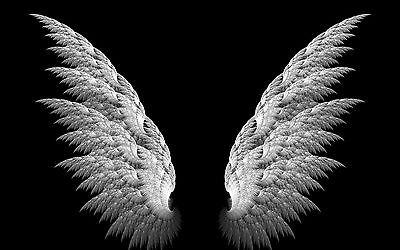 Picture Poster Dark Gothic Art Framed Print Beautiful Black /& White Angel