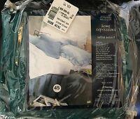 $34 Jc Penney Home Expressions Twin Bedskirt Deep Green Ruffled Cotton Blend