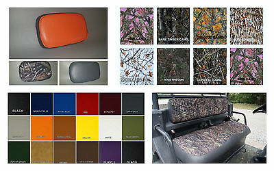 Kubota RTV900 Seat Covers thru 2003 in 2-tone CAMO /& Gray or 25 COLORS Quilted