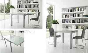 tavolo moderno cucina sala design alluminio e vetro | eBay