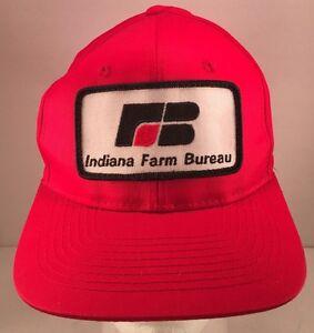 Image is loading Vintage-Indiana-Farm-Bureau-Insurance-Patch-Snapback-Mesh- 25f4cd4913f