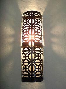 géante !! applique murale Marocaine fer forgé lampe lustre ...