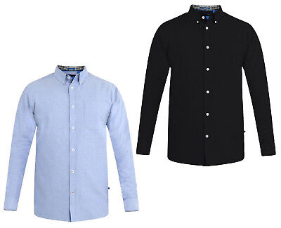 D555 Mens Kingsize Oxford Shirt Big Tall Cotton Long Sleeve Button Down Shirts Gut FüR Antipyretika Und Hals-Schnuller