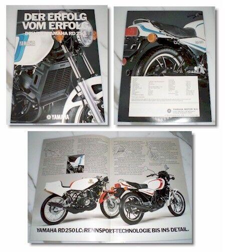 Yamaha 2-Takt RD 250  Prospekt  - Neuwertig --  RD250 Brochure 2-stroke