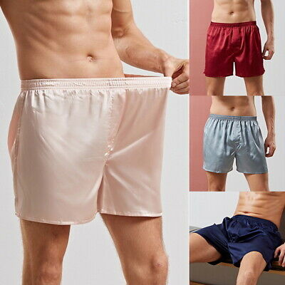 Mens Sleepwear Satin Silk Underwear Boxers Shorts Pants Pyjamas Nightwear Pants