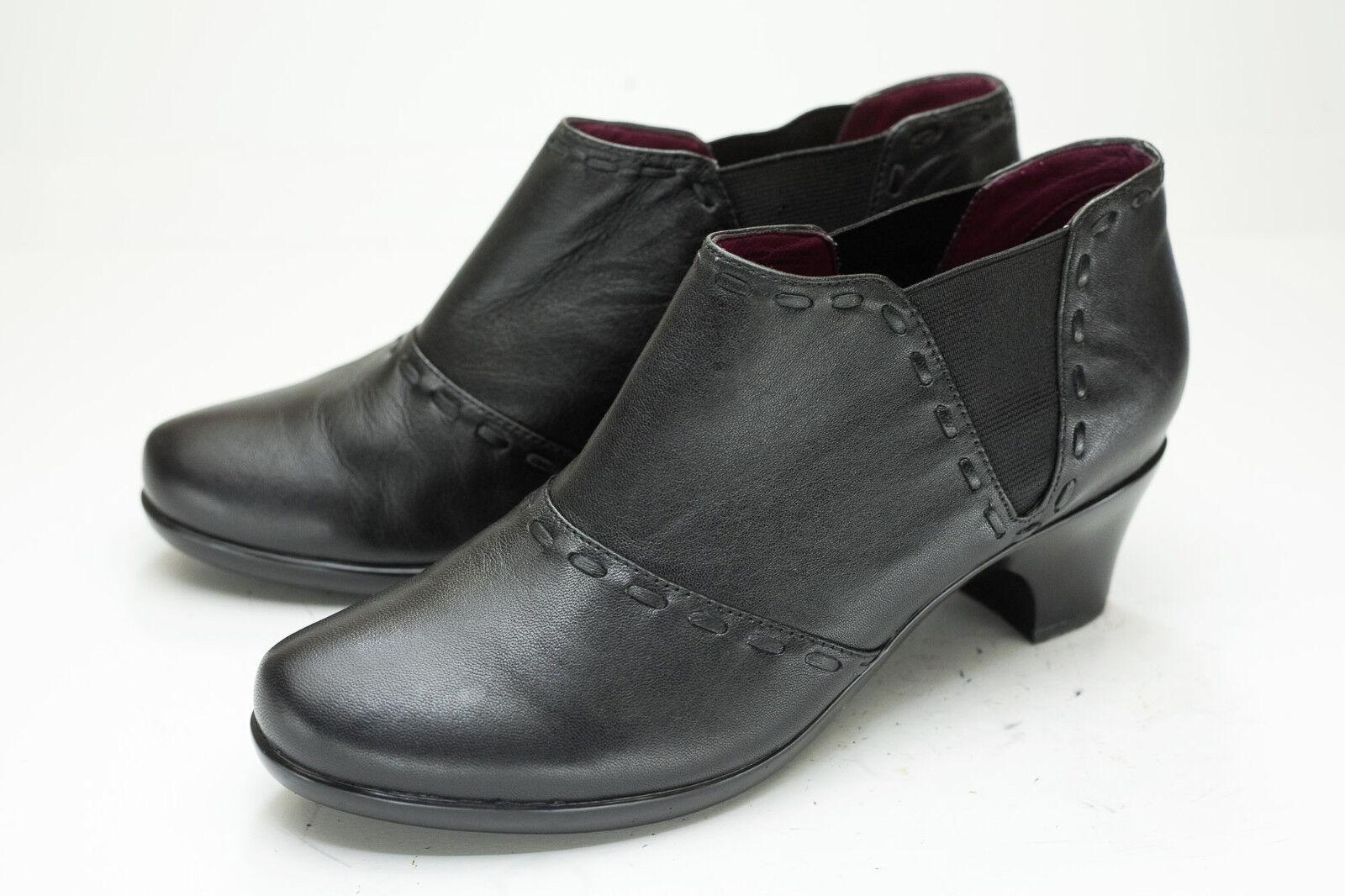 Abeo 9 Black Chelsea Western Ankle Boots Women's