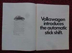 1968 Print Ad Volkswagen Vw Bug Beetle Car Introducing Automatic