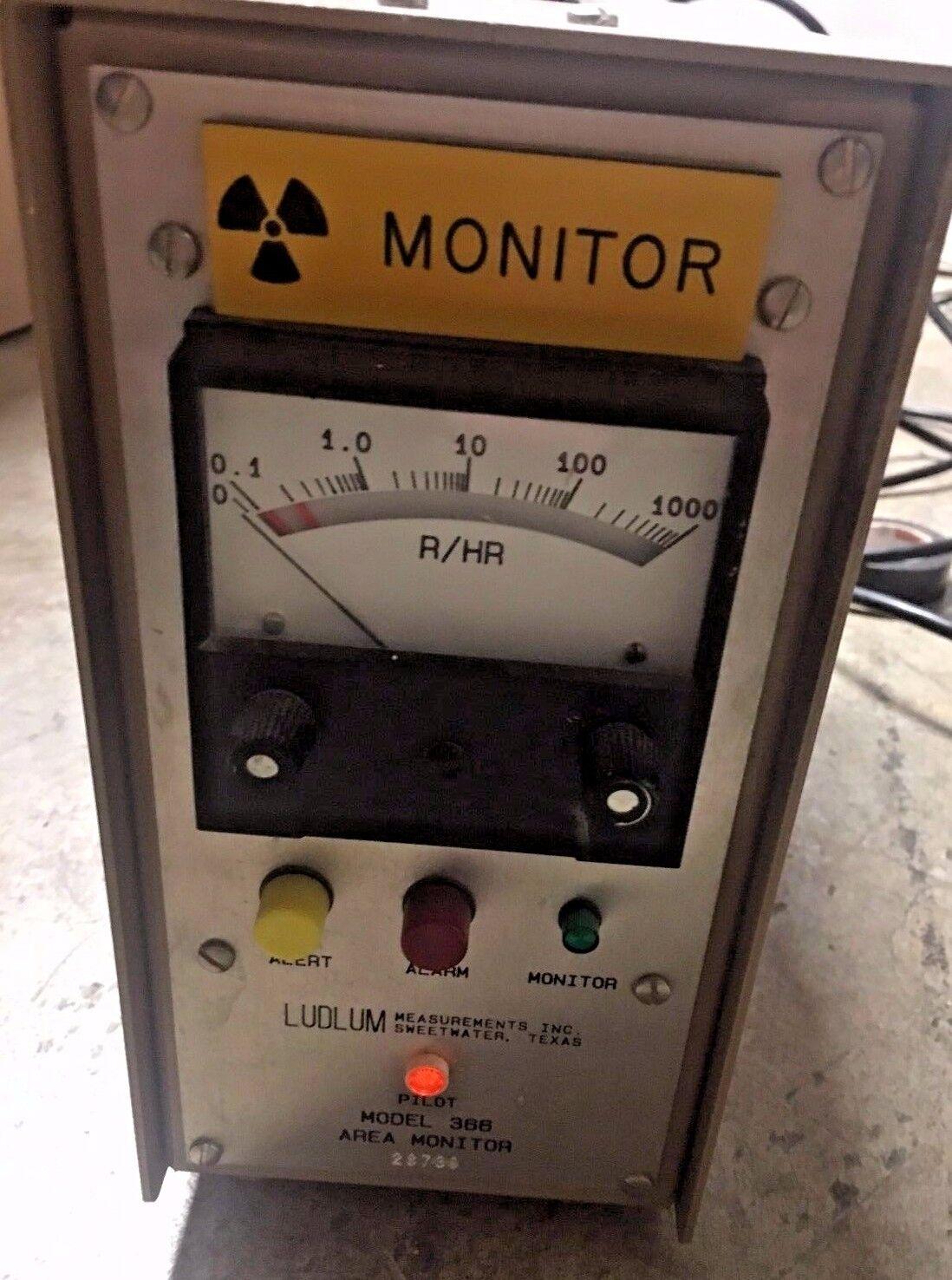 s l1600 - LudLum Measurements Model 366 Geiger Counter No Probe roentgen rad No power cord