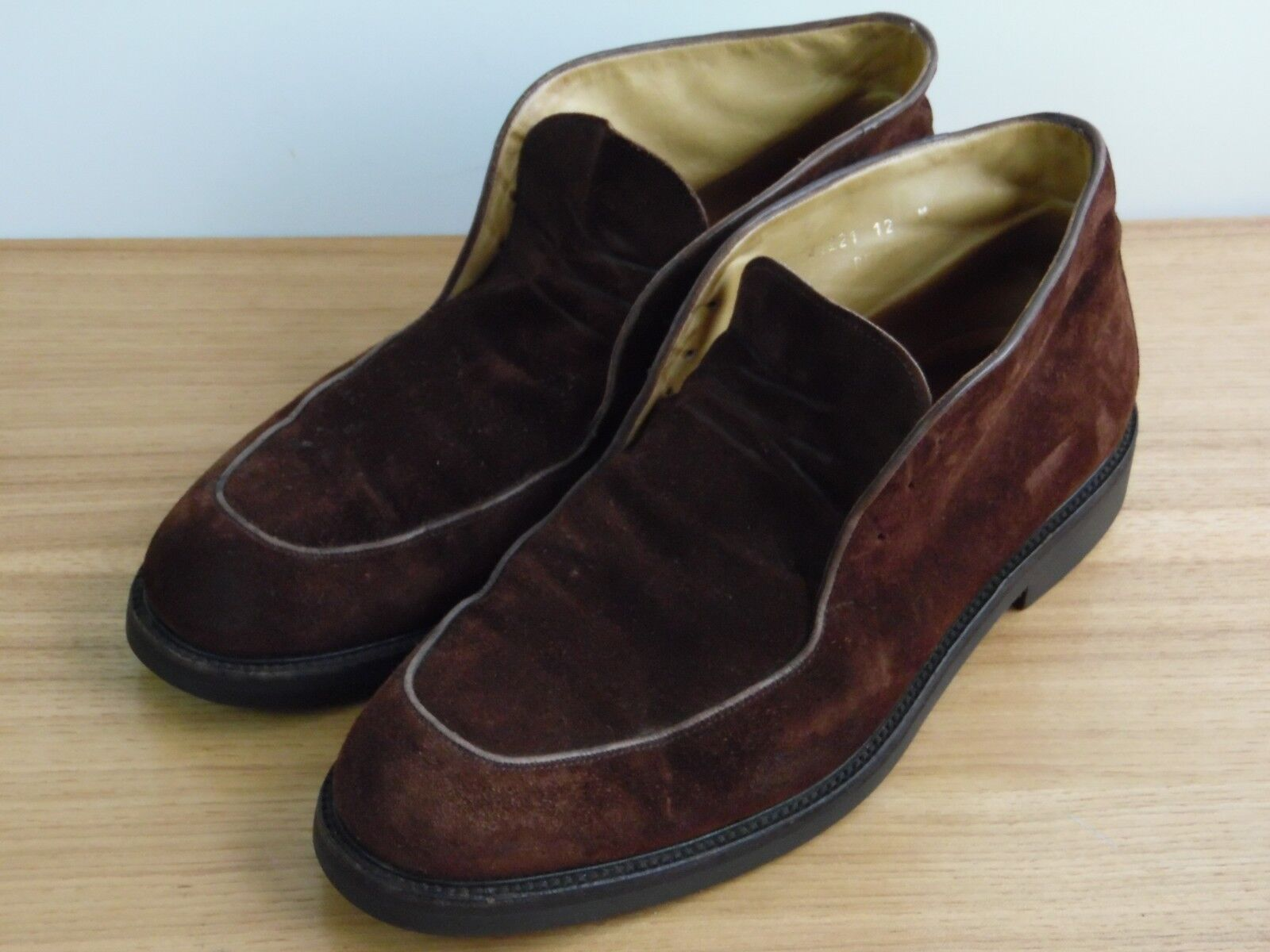 Mens Bruno Magli Size 12 M Brown Suede Ankle Boots Shoes