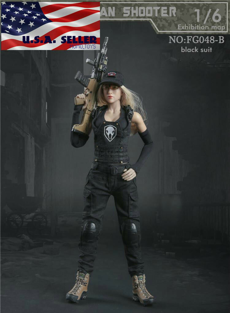 1 6 Tactical Combat Clothing Set B For 12  PHICEN Hot Toys Female Figure ❶USA❶