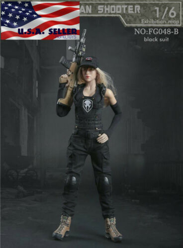 "1//6 Tactical Combat Clothing Set B For 12/"" PHICEN Hot Toys Female Figure ❶USA❶"