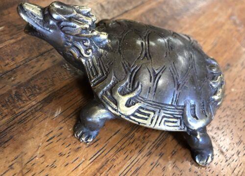 Turtle Temple Fire Tattoo Borneo  Statue Vintage Patina Grade A Bronze 100/%