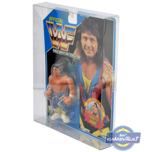 5 x DISPLAY CASE pour WWF HASBRO cardées Figure forte 0.5 mm en plastique Pet Protector
