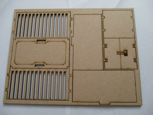 28mm Modern Contain Freight Shipping Containers Scenery Models Laser Cut MDF