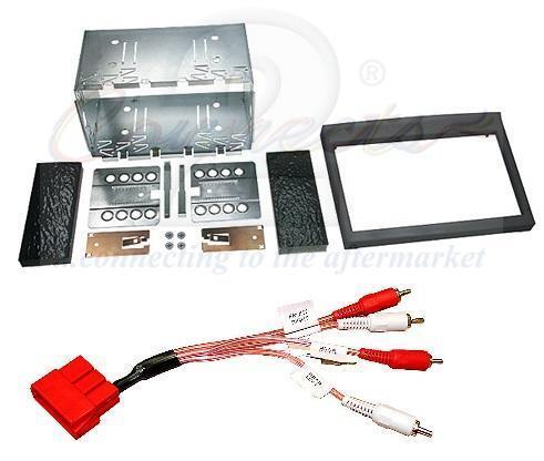PORSCHE Boxster Gen1 Stéréo Double Din Kit de montage adaptateur amplificateur et noir