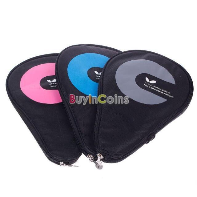 The Waterproof Table Tennis Racket Case Bag For 2 Ping Pong Paddle Bat DQCA