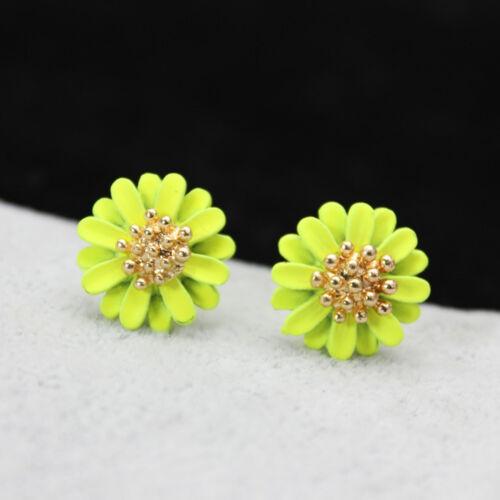New Design Elegant Jewelry Big Flowers Stud Earrings for Women Girl Lady Fad =TO