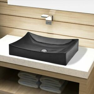 Ceramic-Bathroom-Sink-Vessel-Basin-Rectangular-Washroom-Powder-Room-Kitchen