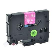 Weiß auf Berry Pink TZe-MQP35 12mm Schriftband für Brother PT-D600 E300 E100 310
