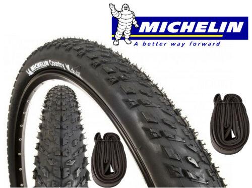 2 chambres à air MICHELIN Country Dry 2 vélo 26 x 2.00 MTB NEUF 2 pneus VTT