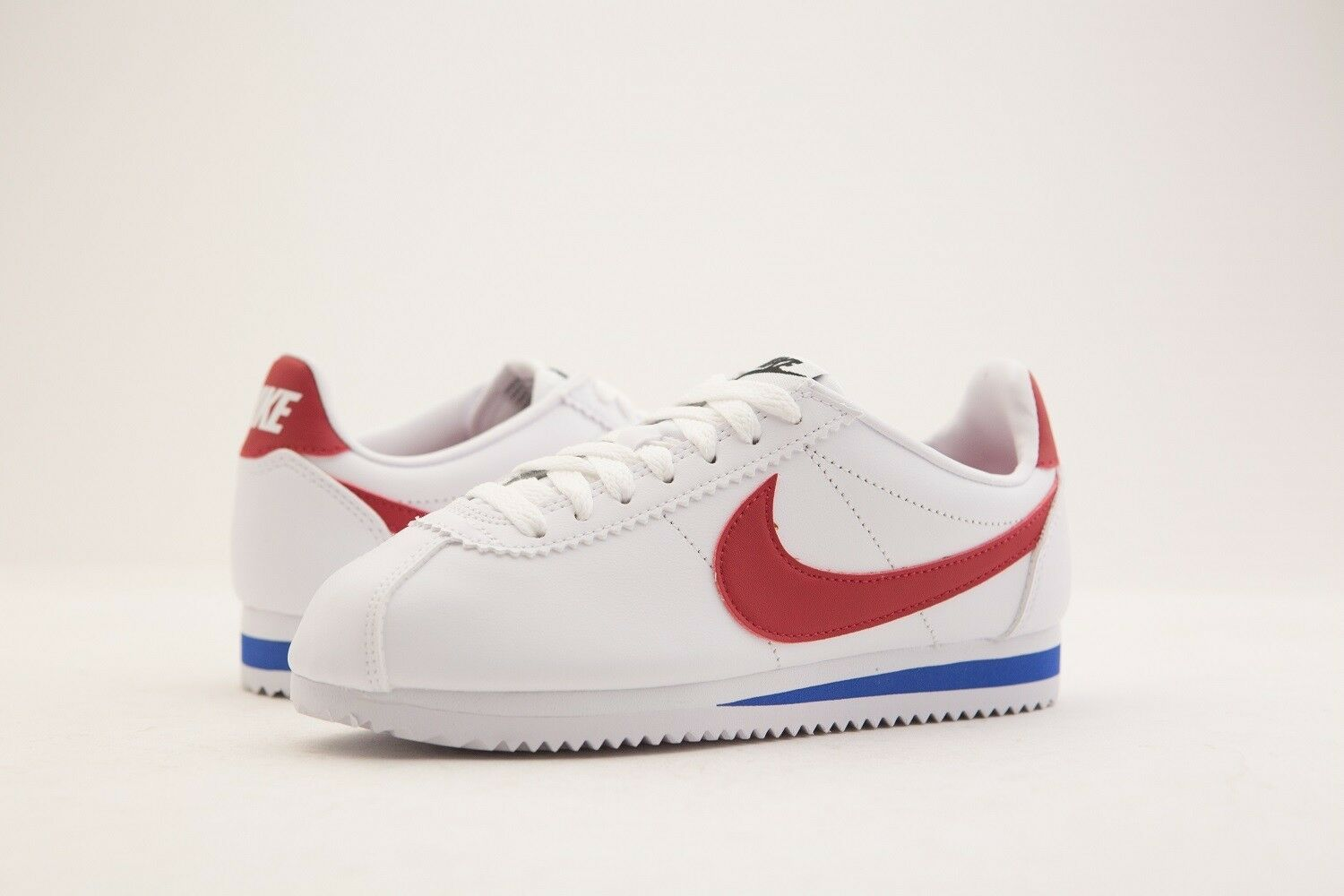 807471-103 Nike Women Classic Cortez Leather White Varsity Red Royal Brand discount