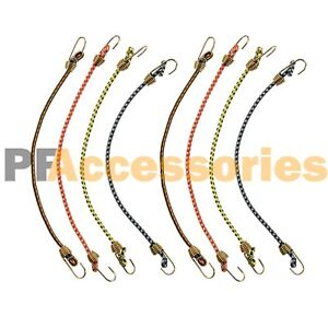 """8Pcs 6/"""" Bungee Cord Heavy Duty Tie Down Straps with Hook for Tent Tarp"""