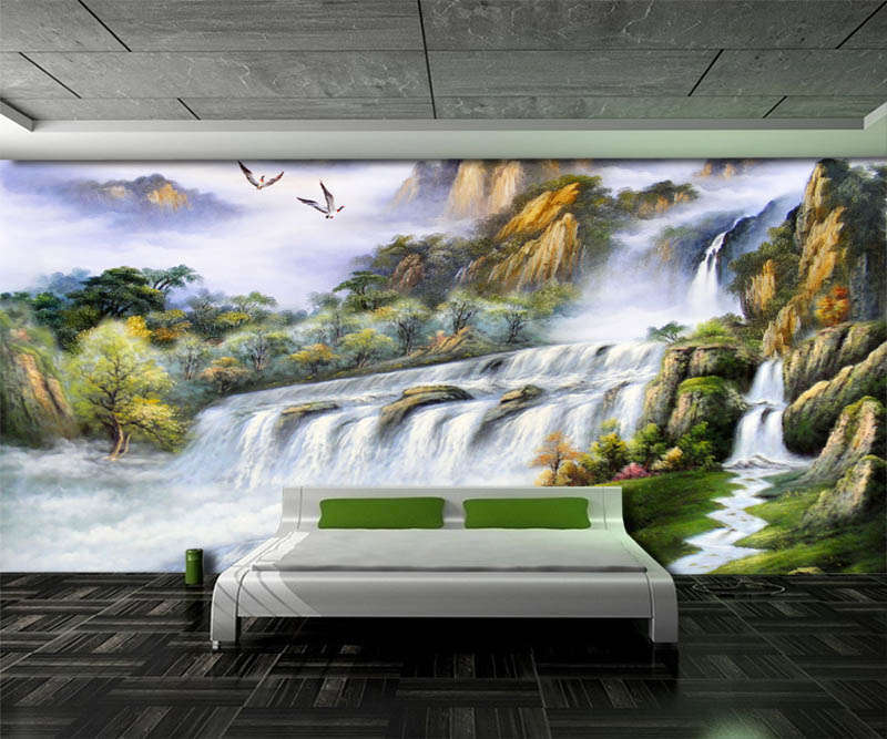 Clear Flowing Water 3D Full Wall Mural Photo Wallpaper Printing Home Kids Decor