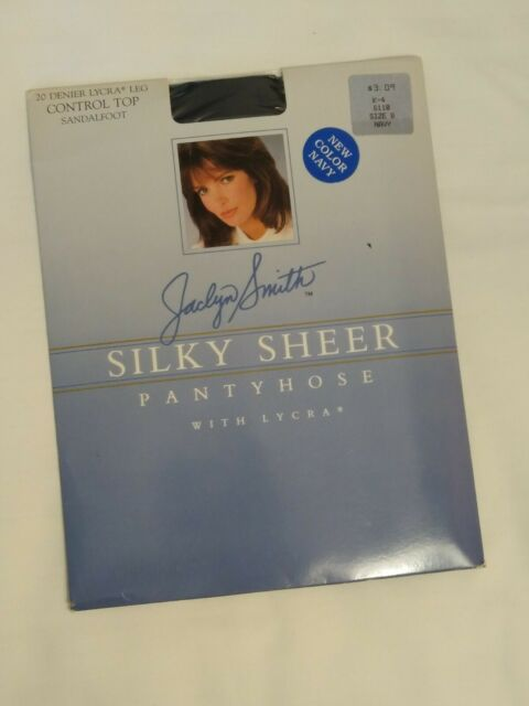 Jaclyn Smith Size B Navy Silky Sheer Control Top Pantyhose Hosiery Sandalfoot For Sale Online Ebay
