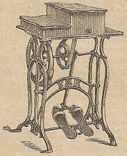 A4376 Macchina per cucire - Incisione - Stampa Antica del 1887