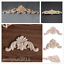 Frame Onlay Furniture Crafts Unpainted Wood Carved Applique Home Decor Supplier