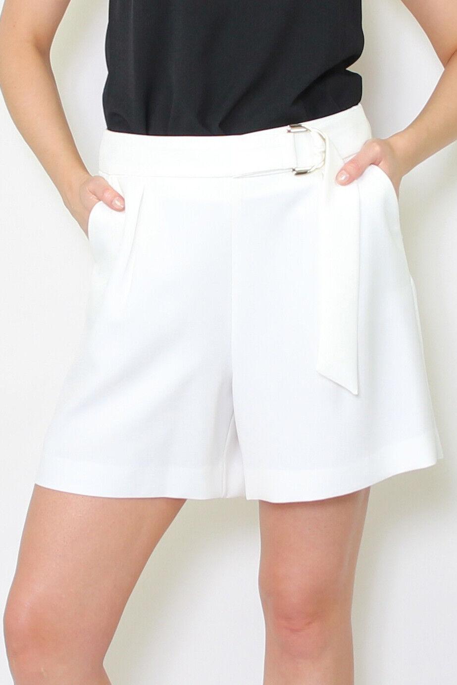 GAUDI - Shorts Damen The New Elegance weiß schließt mit Metallschnalle Neu