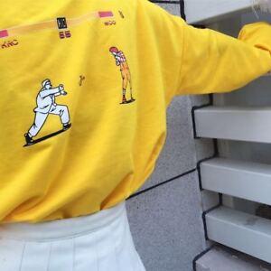 Women-Kpop-Harajuku-Female-Loose-Long-Sleeve-Cartoon-Yellow-Top-T-shirts-kfc