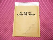 9 Kraft Bubble Envelopes 2 85x12 Self Sealing Padded Shipping Mailers