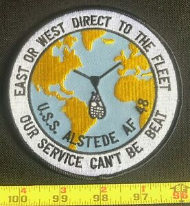 US Military USS Alstede AF-48 Stores Ship Embroidered Iron On Patch