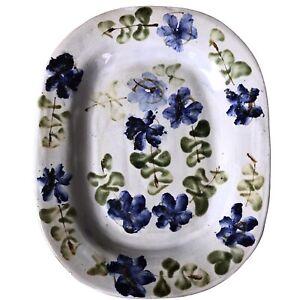 Important plat en céramique 50 signé Thiry à Vallauris era Picault Capron