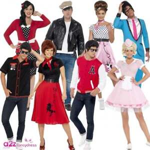 4dbbff2a49088 50s Costume Adult Mens & Womens Ladies 1950s Fancy Dress Costumes ...