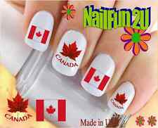 "RTG Set#522 COUNTRIES ""Canada Flag 1"" WaterSlide Decals Nail  Art Transfers"