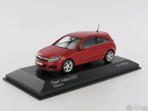 Minichamps 400043021 Opel Astra GTC escala las: 1:43 2005 rojo