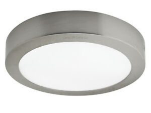 18w Led Round Surface Mount Ceiling Panel Down Light Stainless Steel