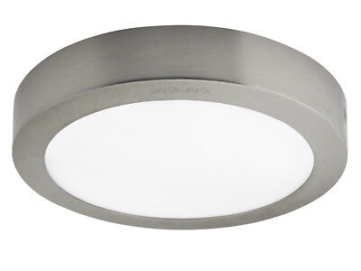 18W LED Round SURFACE MOUNT Ceiling Panel Down Light STAINLESS STEEL Cool White