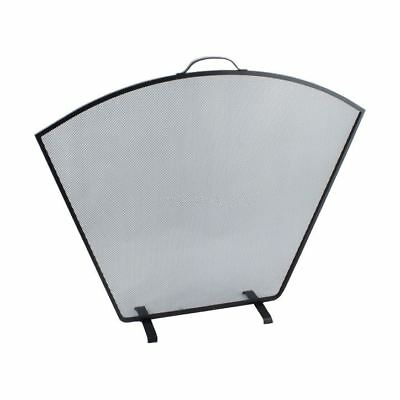 Black Fan Shaped Fire Screen / Fire Guard With Carry Handle Goede Reputatie Over De Hele Wereld
