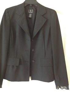 Jacket Black INC International Concepts Formal Stylish Comfortable Size 4