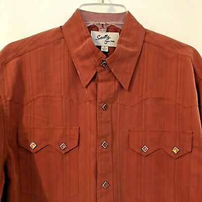 Red Scully Full Button Front Solid Shirt