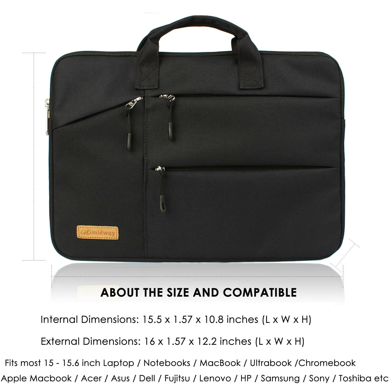 48afba8ddf4d Multi-functional Portable Laptop Sleeve Case Bag for Macbook Air/Pro 13-15  inch