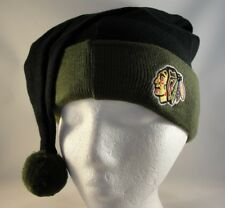 823d54375c3 Chicago Blackhawks NHL American Needle Peak Knit Cuffed Pom Beanie ...
