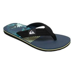 Quiksilver-NEW-Men-039-s-Molokai-Layback-Flip-Flops-Black-Blue-Green-BNWT