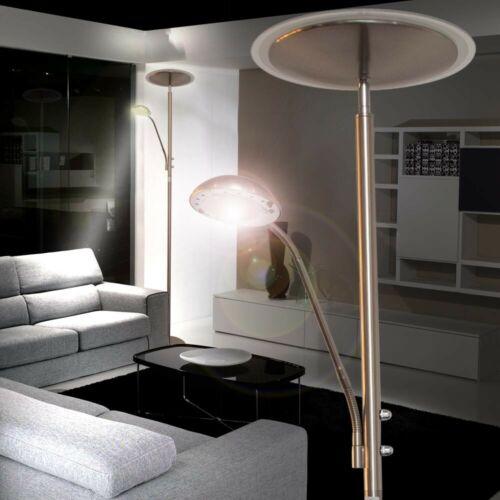 LED Design Decken-Fluter Steh Lampe Stand Leuchte Lese-Spot Beleuchtung Büro