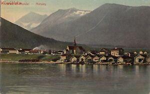 Postcard-View-of-Mandal-Norway
