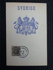 SCHWEDEN MK 1948 SWEDEN WAPPEN MAXIMUMKARTE CARTE MAXIMUM CARD MC CM c2455